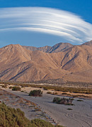 Desert Wash Framed Prints - Lenticular Cloud over Palm Springs Framed Print by Matthew Bamberg