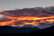 Orientation Metal Prints - Lenticular Clouds Ablaze Metal Print by Tim Grams