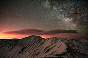 Stars Photos - Lenticular Mountain Milky Way by Mike Berenson