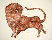 Gond Paintings - Leo 1992 by Jangarh Singh Shyam