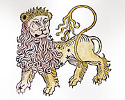 Leo An Illustration From The Poeticon Print by Italian School