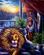Queen City Paintings - Leo and the Virgin by Sebastian Pierre
