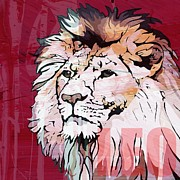 Featured Mixed Media Prints - Leo Print by Catrin Kassube