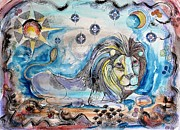 Astrology Sign Paintings - Leo by Lorenzo Muriedas