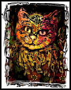 Fat Cat Framed Prints - Leon Framed Print by Natalie Holland