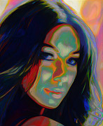 Singer Digital Art Originals - Leona Lewis by Byron Fli Walker