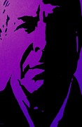 Purple Decorative Art Art - Leonard Cohen by John  Nolan