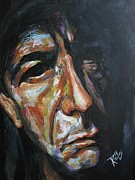 Leonard Cohen Paintings - Leonard Cohen by Stanciu Razvan
