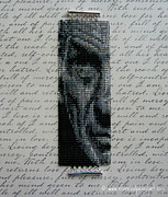 Featured Jewelry - Leonard Nimoy as Spock Prime Beaded Art Wide Cuff Square Stitch Bracelet w/ Sterling Silver Clasp by N Faulkner