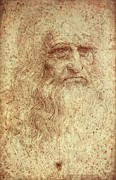 Self-portrait Photos - Leonardo Da Vinci 1452-1519 by Everett