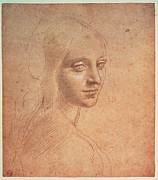 All-metal Photos - Leonardo Da Vinci, Portrait Of A Girl by Everett