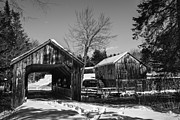 Old Mills Photos - Leonards Mills Covered Bridge Landscape by Glenn Gordon