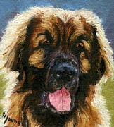 Leonberger Prints - Leonberger Dog  Print by Olde Time  Mercantile