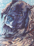 Dog Art Paintings - Leonberger Portrait by Lee Ann Shepard