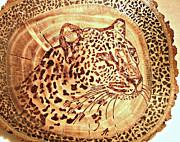 Leopard Print by Art  Pyrography