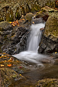 Peaceful Scenery Photo Prints - LePetit Waterfall Print by Susan Candelario