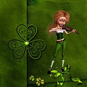Leprechaun Digital Art - Leprechaun Girl by John Junek