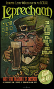 Leprechaun Digital Art - Leprechaun Sideshow Poster by Tim Nyberg