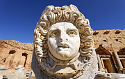 Gorgon Photo Prints - Leptis Magna Print by Robert Preston
