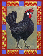 Farm Posters - Leroy the Rooster Poster by Linda Mears