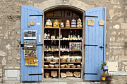France Doors Framed Prints - Les Baux Shutters Framed Print by Karma Boyer