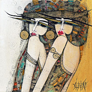 Albena Framed Prints - Les Demoiselles Framed Print by Albena