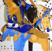 Les Fleurs Bleues Du Soleil 3 Print by Rick Hurst