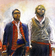 Singing Mixed Media Originals - Les Miserables by Randy Sprout