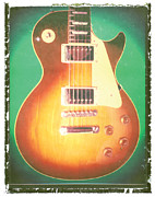 Guy Prints - Les Paul Guitar Print Print by Artful Musician NY