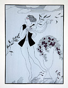 Ballet Framed Prints - Les Sylphides Framed Print by Georges Barbier