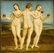 Famous Artists - The Three Graces by Raphael