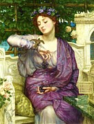 Poynter Framed Prints - Lesbia and her Sparrow Framed Print by Pg Reproductions