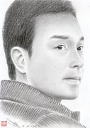 Hong Kong Drawings Prints - Leslie Cheung Print by Eliza Lo