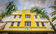 Leslie Hotel South Beach Miami Art Deco Detail - Hdr Style Print by Ian Monk