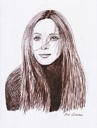 Leslie Mann Print by Jose Valeriano