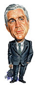 Leslie Nielsen Paintings - Leslie Nielsen as Dr. Barry Rumack by Art