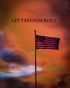 50 Stars Posters - Let Freedom Ring Poster by Robert Bales
