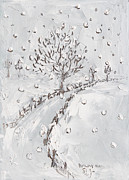 Becky Kim Artist Painting Metal Prints - Let It Snow Metal Print by Becky Kim