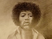 Jimi Hendrix Drawings - Let Me Stand Next To Your Fire by Elizabeth Sullivan