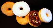 Doughnuts Photo Prints - LET the GOOD TIMES ROLL Print by Karen Wiles