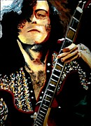 Jimmy Page Artwork Paintings - Let the Music Be Your Master by Kevin J Cooper Artwork