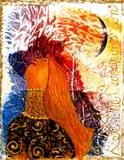 Mono Mixed Media Prints - Let The Sunshine In Print by Nancy TeWinkel Lauren