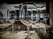 Stemware Photos - Let The Wine Tasting Begin by Julie Palencia