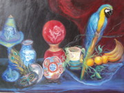 Macaw Art Paintings - Let Your Light Shine and Fly by Patricia Kimsey Bollinger