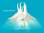 Spiritual Presence Prints - Let Your Light Shine Print by Gill Billington