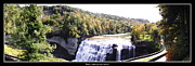 Letchworth State Park Middle Falls Panorama Print by Rose Santuci-Sofranko