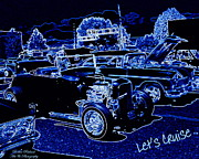 Rock N Roll Digital Art - Lets Cruise by Bobbee Rickard