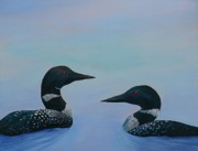 Loon Painting Framed Prints - Lets Cruise Framed Print by Jill Ferguson