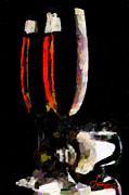 Wine Glasses Paintings - Lets drink some wine TNM by Vincent DiNovici
