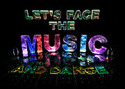 Name In Lights Metal Prints - Lets Face the Music and Dance Metal Print by Jill Bonner